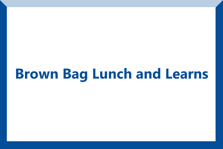 brown bag lunch and learns button